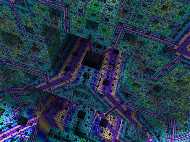 Abstrakt bakgrundskubvärld arkivbild