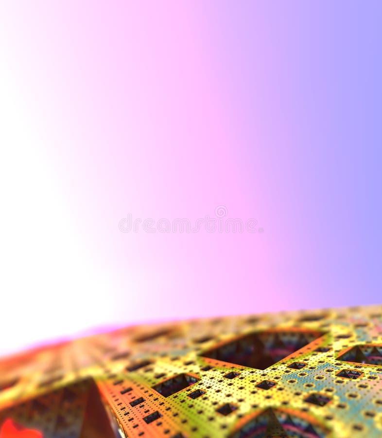 Abstrakt bakgrundskubvärld royaltyfri foto