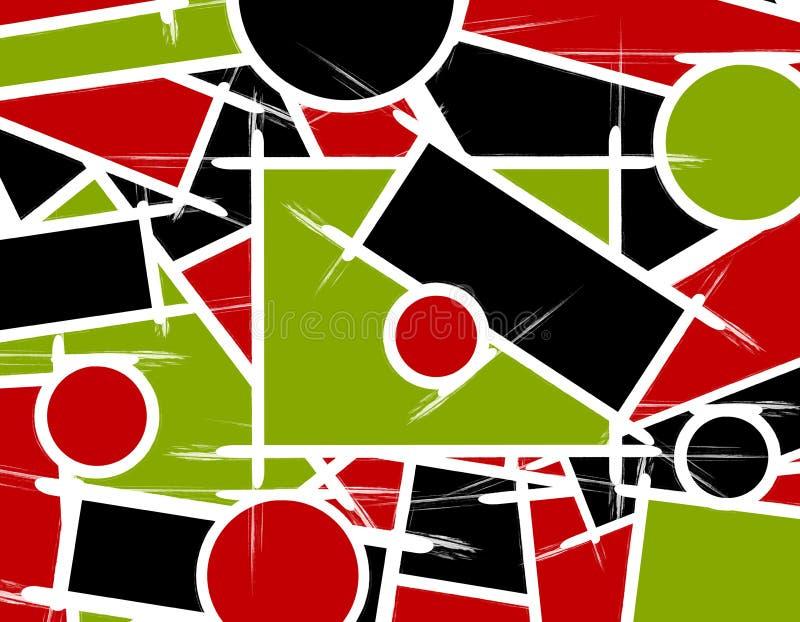 abstrakt bakgrundslinjer former royaltyfri illustrationer