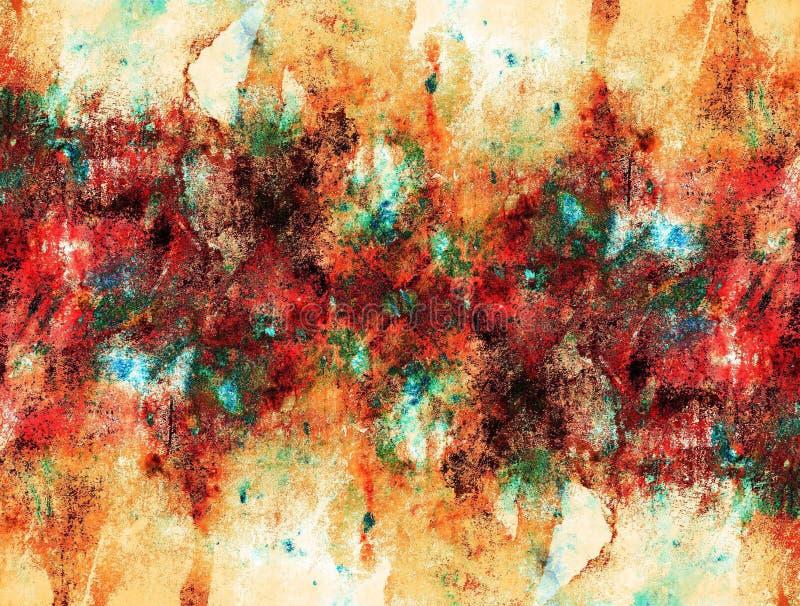 abstrakt bakgrundsmålning royaltyfri illustrationer