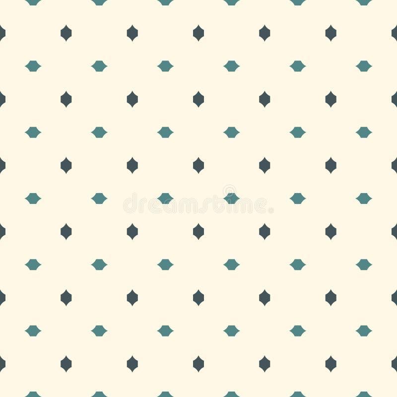 abstrakt bakgrundsminimalist Enkelt modernt tryck med mini- kors Sömlös modell med geometriska diagram stock illustrationer