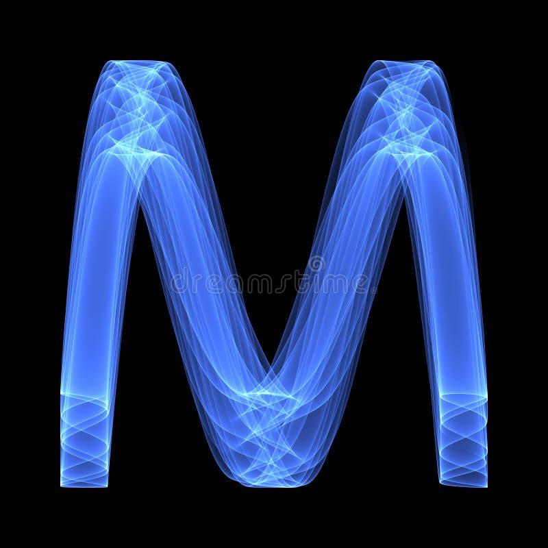 abstrakt bakgrundsmodell Ljusa blått märker M på den svarta bakgrunden fotografering för bildbyråer
