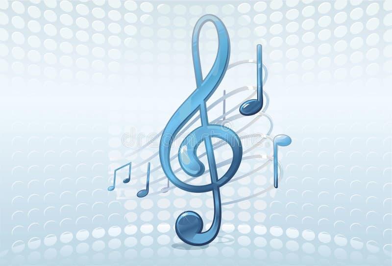 abstrakt bakgrundsmusik royaltyfri illustrationer
