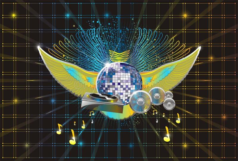abstrakt bakgrundsmusik stock illustrationer