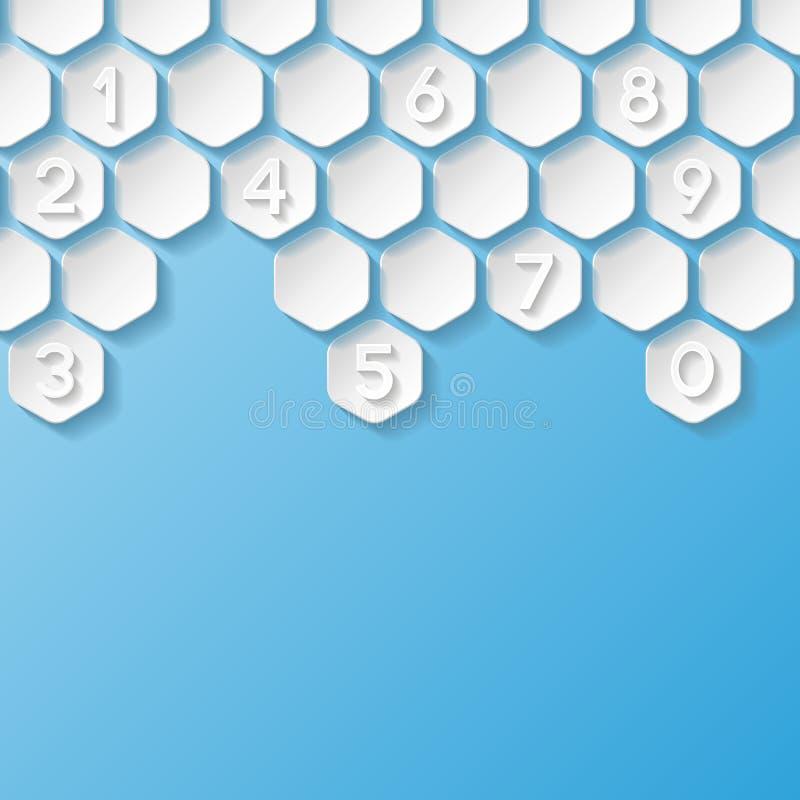 abstrakt bakgrundsnummer vektor illustrationer
