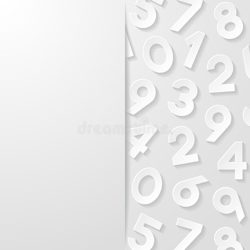 abstrakt bakgrundsnummer royaltyfri illustrationer