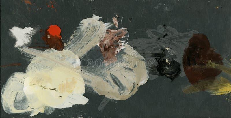 abstrakt bakgrundsoljemålarfärger konstpalett av akryl, olje- målarfärger abstrakt färgrik scenisk bakgrund stock illustrationer