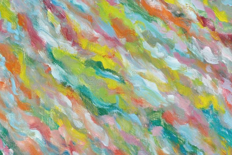 abstrakt bakgrundsoljemålning En ljus bild målade vid en idérik person Beundra konstmästerverket Fragment av konstverk liv stock illustrationer