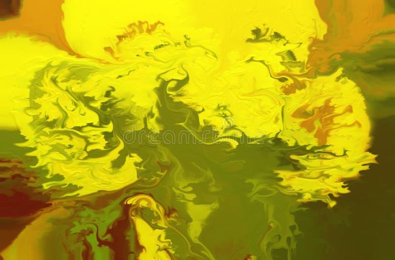 abstrakt bakgrundsoljemålning Färgrik digital illustration stock illustrationer