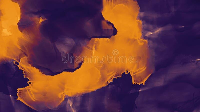 abstrakt bakgrundsoljemålning Vattenfärg på kanfastextur Färgtextur Fragment av konstverk modern konst Samtida konst vektor illustrationer