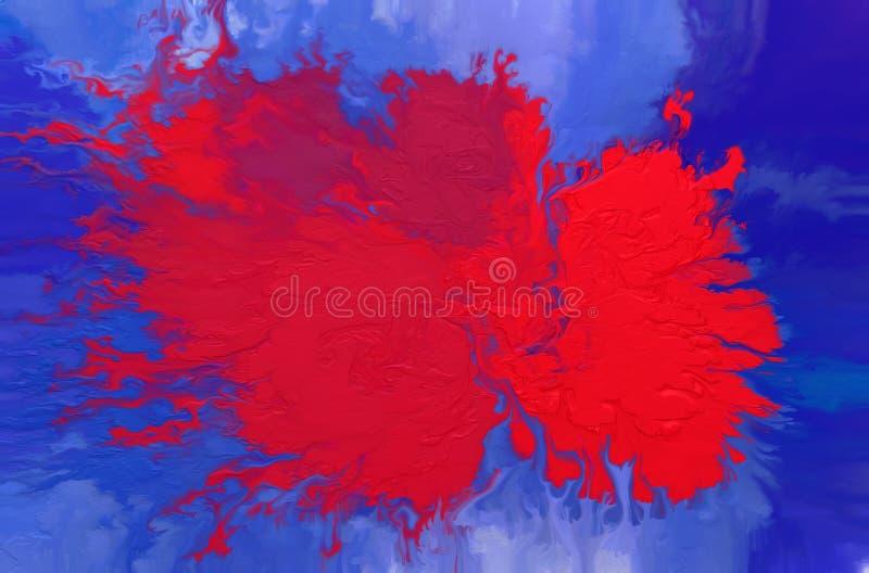abstrakt bakgrundsoljem?lning F?rgrik digital illustration royaltyfri foto