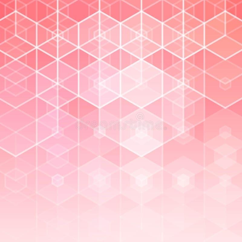 abstrakt bakgrundspink också vektor för coreldrawillustration Orientering för annonsering presentationstemplateeps 10 stock illustrationer