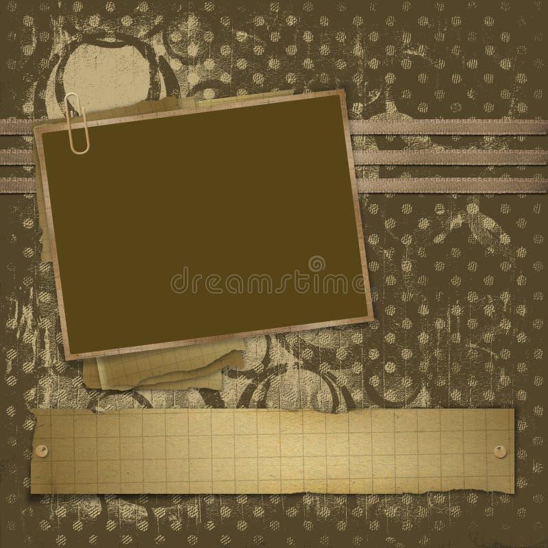 abstrakt bakgrundsramfoto royaltyfri illustrationer