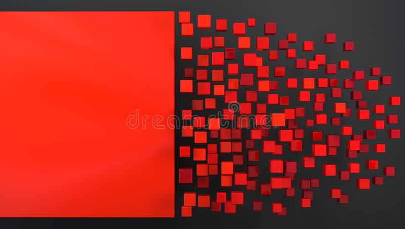 abstrakt bakgrundsred stock illustrationer