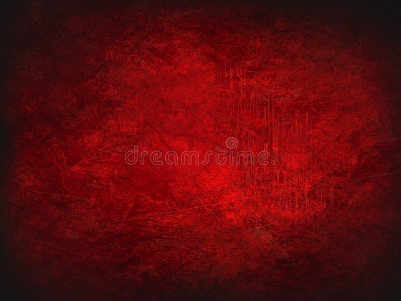 abstrakt bakgrundsred Tappningtextur med mörka hörn vektor illustrationer
