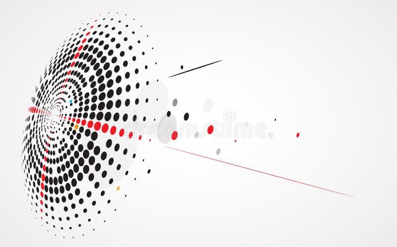 Abstrakt bakgrundssamling för teknologi för affärslösningsidéer royaltyfri illustrationer