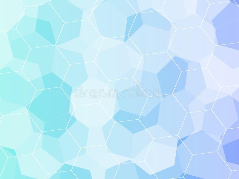 abstrakt bakgrundssexhörning Polygonal design för teknologi Digital futuristisk minimalism royaltyfri illustrationer
