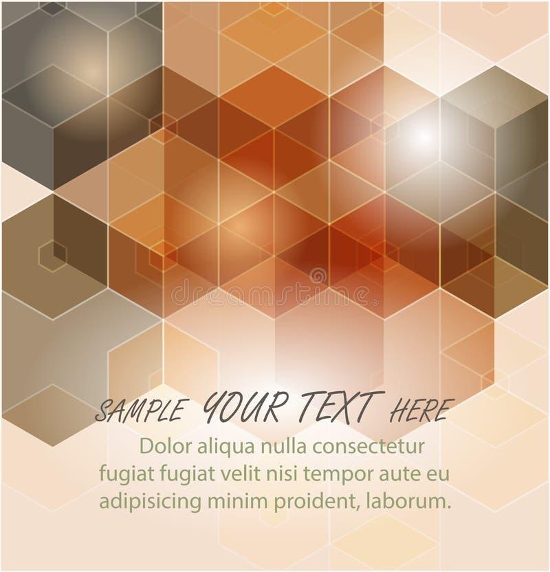 abstrakt bakgrundssexhörning Polygonal design för teknologi Digital futuristisk minimalism vektor illustrationer