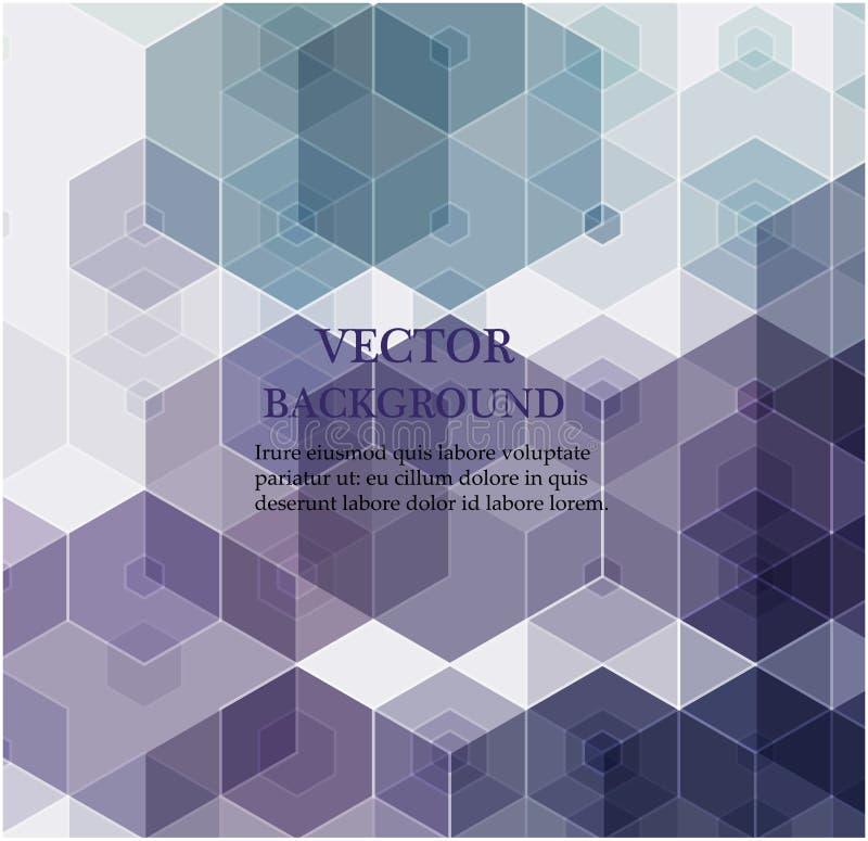 abstrakt bakgrundssexh?rning Polygonal design f?r teknologi Digital futuristisk minimalism stock illustrationer