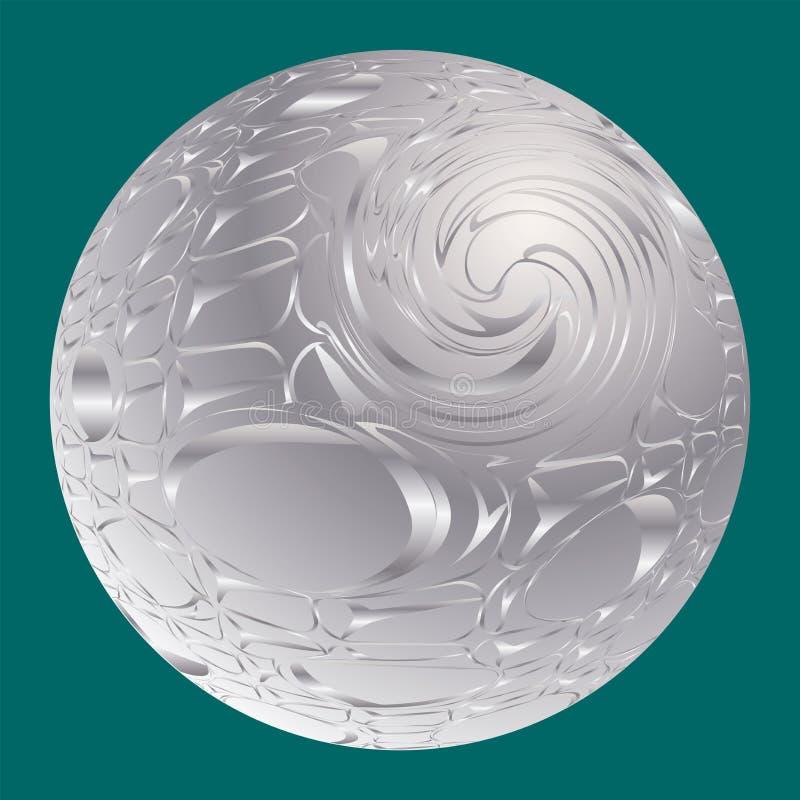 abstrakt bakgrundssilver Kul?ra spheres vektor illustrationer