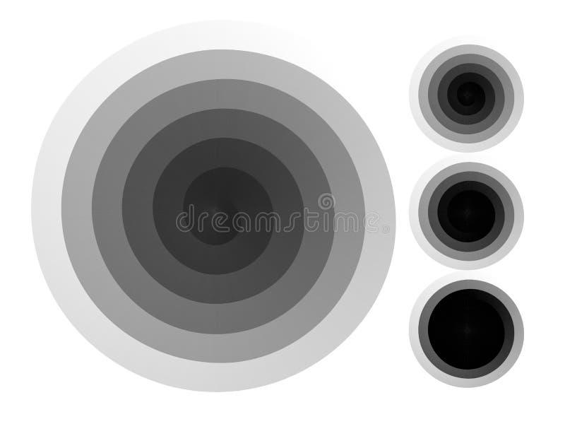 abstrakt bakgrundsspiral Svartvit rastrerad vektor stock illustrationer