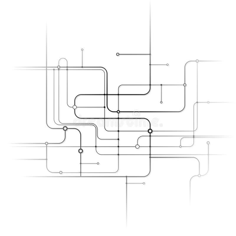 abstrakt bakgrundsströmkrets royaltyfri illustrationer