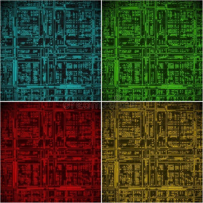 abstrakt bakgrundsströmkretselkraft royaltyfri illustrationer