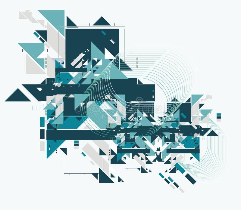 abstrakt bakgrundstech stock illustrationer