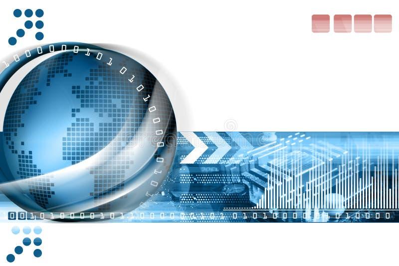 abstrakt bakgrundsteknologi stock illustrationer