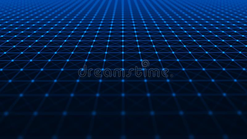 abstrakt bakgrundsteknologi Futuristisk perspektivbakgrund Stor datavisualization framf?rande 3d stock illustrationer