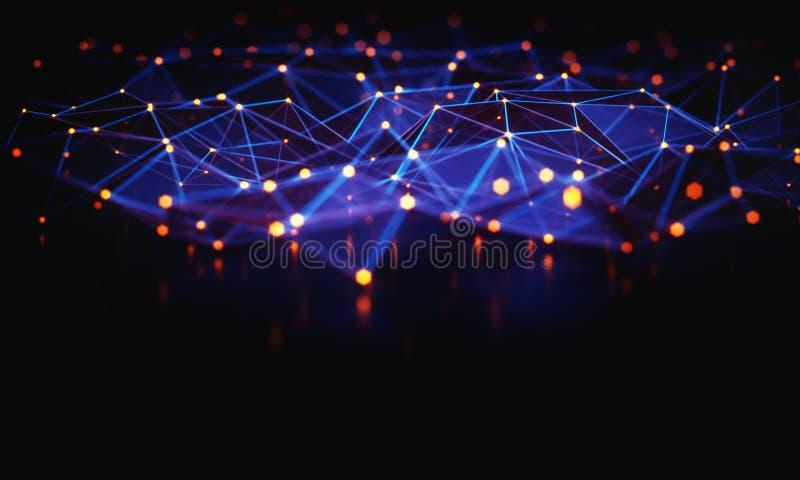 Abstrakt bakgrundsteknologianslutning royaltyfri illustrationer