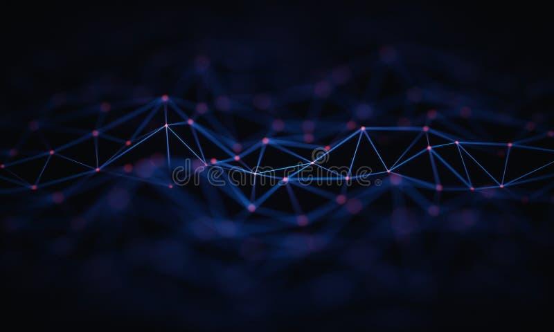 Abstrakt bakgrundsteknologianslutning stock illustrationer