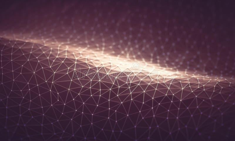 Abstrakt bakgrundsteknologianslutning arkivbilder