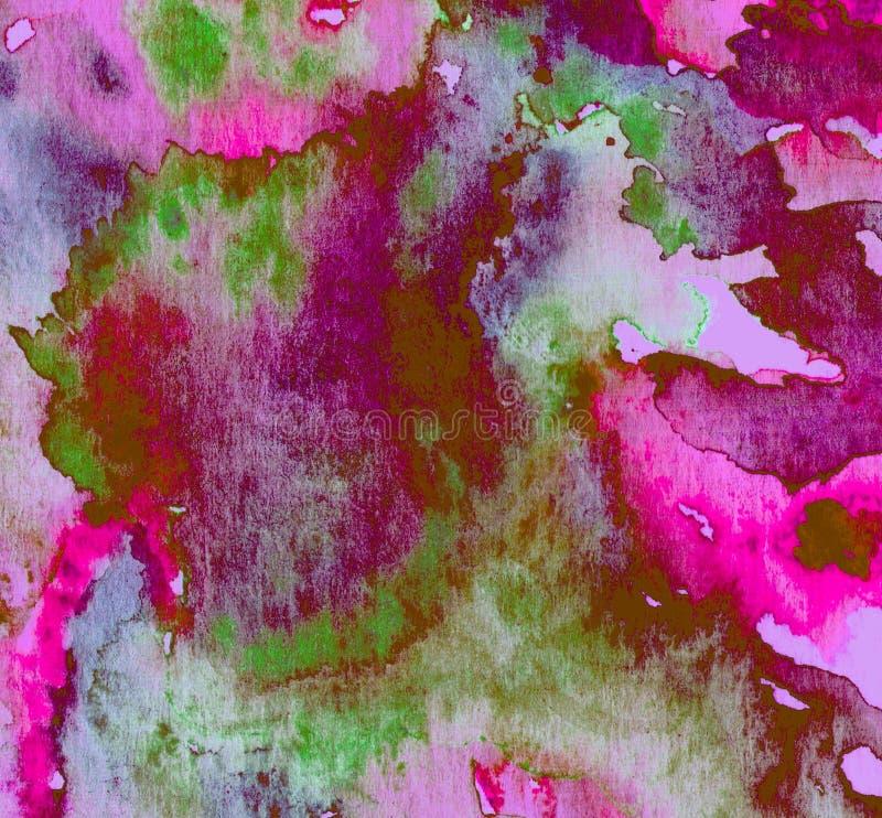 Abstrakt bakgrundstextur för vattenfärg av handgjort stock illustrationer