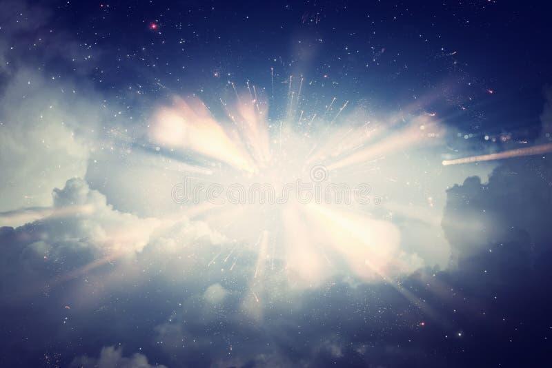 abstrakt bakgrundsull Galax, nebulosa och stj?rnklar yttre rymdtextur royaltyfri foto