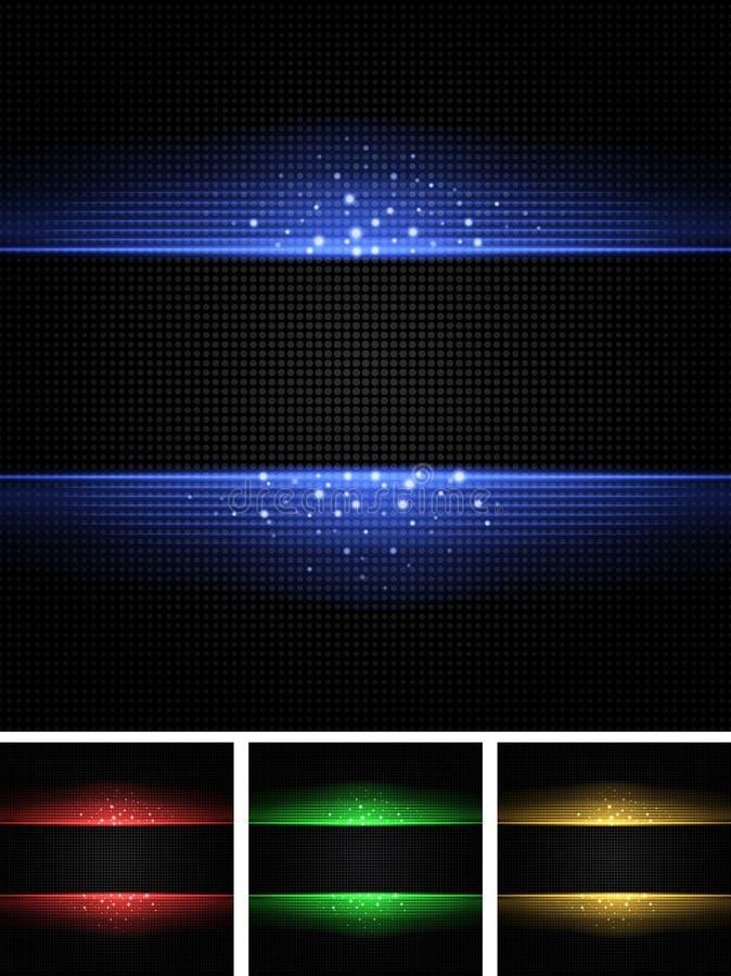 Abstrakt bakgrundsuppsättning vektor illustrationer