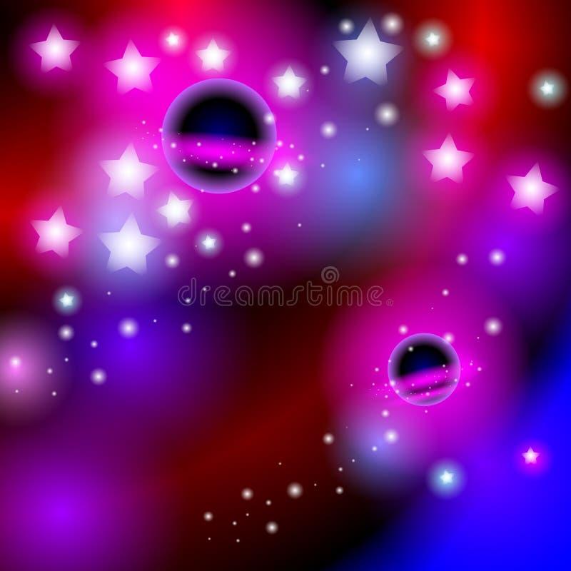 Abstrakt bakgrundsutrymme med stjärnor Ljus och modern kortdesig vektor stock illustrationer