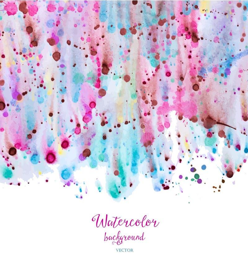 abstrakt bakgrundsvattenfärg stock illustrationer