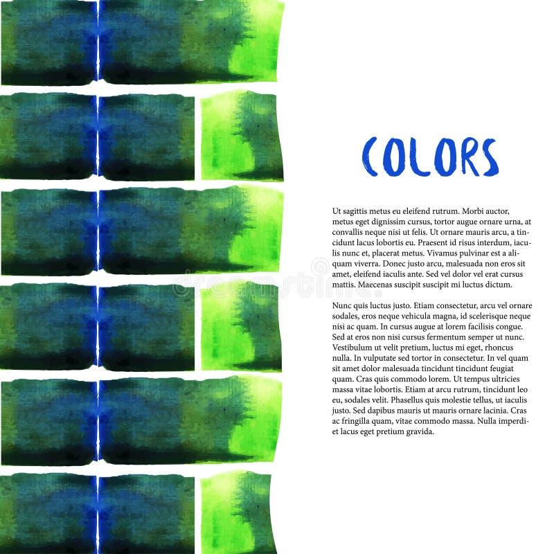 abstrakt bakgrundsvattenfärg Färgrik tegelstengräns vatten för färgstänk för lampa för kulabegreppsenergi vektor illustrationer