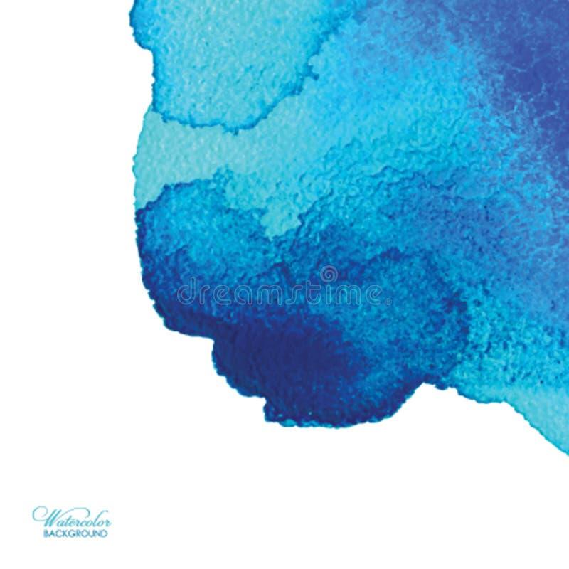 abstrakt bakgrundsvattenfärg Räcka den utdragna vattenfärgbakgrunden, texturera, befläcka vattenfärger på vått papper royaltyfri illustrationer