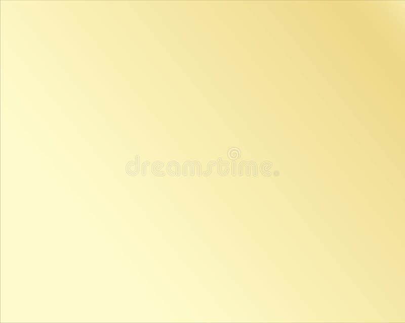 Abstrakt bakgrundsvektor eps10 för guld- lutning Lutning för gul metall vektor illustrationer