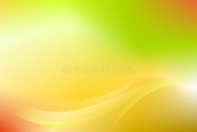 Abstrakt bakgrundsvektor för guld- grön kurva royaltyfri illustrationer