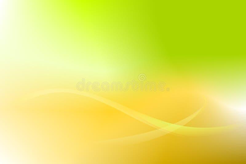 Abstrakt bakgrundsvektor för guld- grön kurva vektor illustrationer