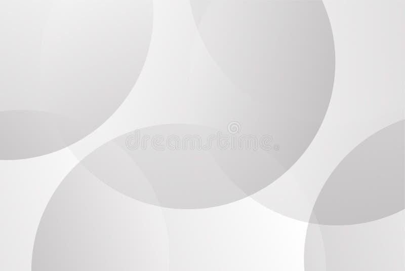 Abstrakt bakgrundsvektor för vit och grå rund kurva för presentation Bakgrund och abstrakt begreppbegrepp vektor illustrationer