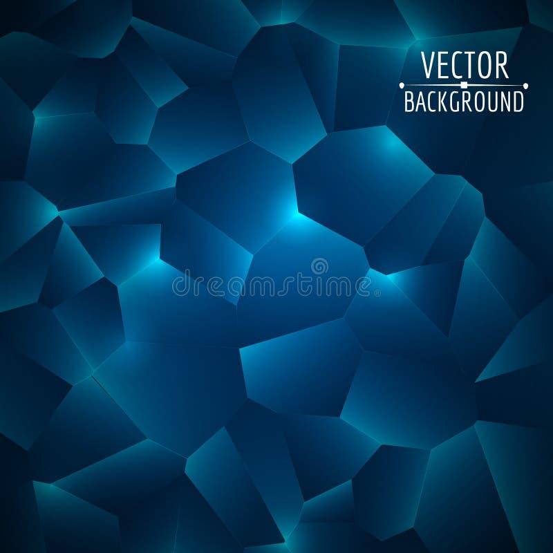 abstrakt bakgrundsvektor glansiga former Färgrikt geometriskt för vektor royaltyfri illustrationer