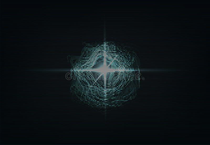 abstrakt bakgrundsvektor Ljus tryckvåg i mörker Glödande neonljus royaltyfri illustrationer