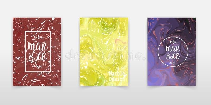 Abstrakt bakgrundsvektor, utdragen konstnärlig marmorera inbjudan för vattenfärghand, ebruillustration Mallen för sommarsäsong se stock illustrationer