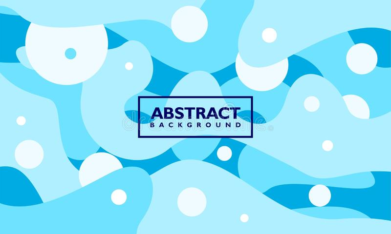 Abstrakt bakgrundsvektormall med blå krabb form stock illustrationer