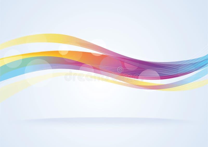 abstrakt bakgrundsvektorwave royaltyfri illustrationer