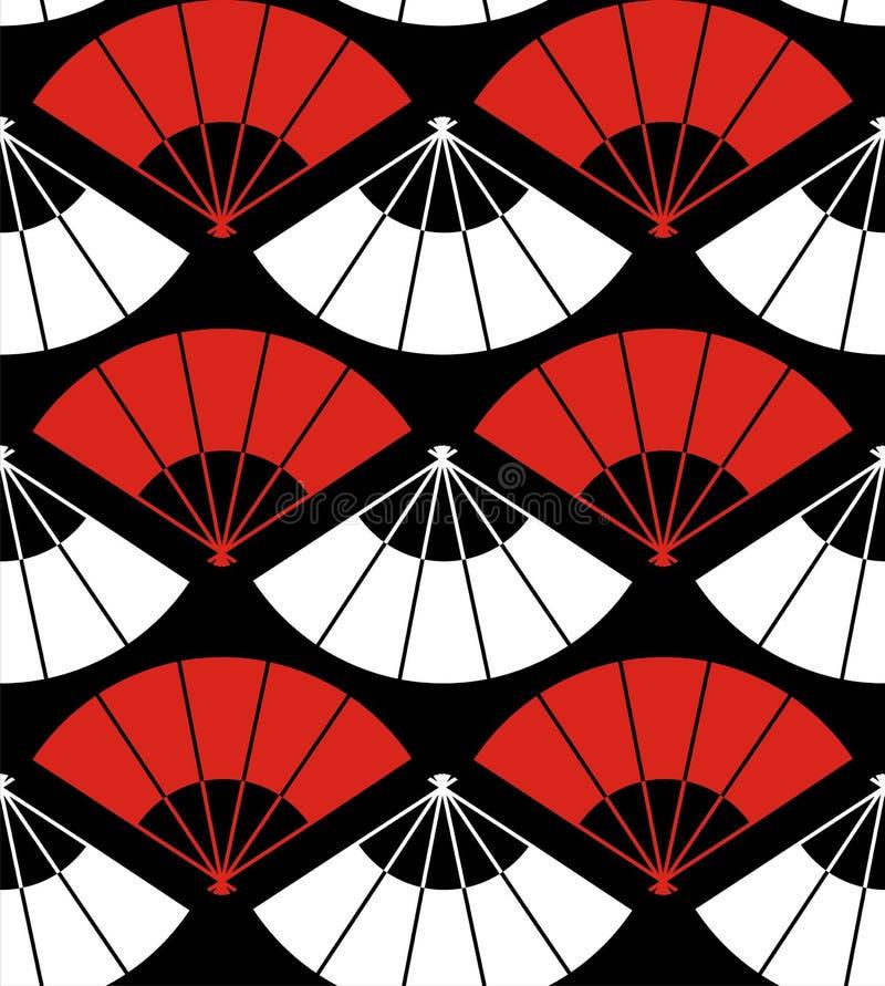 abstrakt bakgrundsventilator japan stock illustrationer